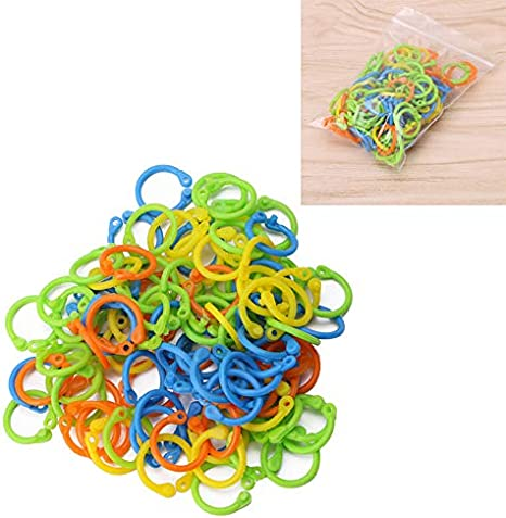 100Pcs Knitting Needles Crochet Locking Stitch Markers Holder Tool Accessiories