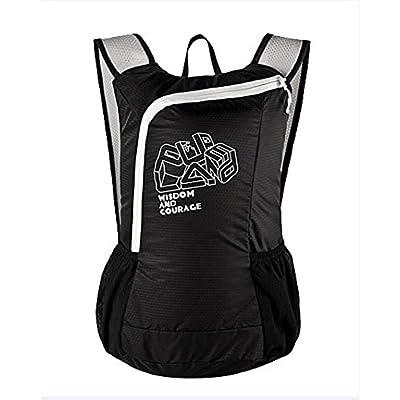 Waterproof Backpack Ultralight Foldable with Bottle Pockets 16L Black