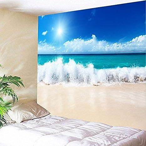 WandArtunique Tapiz de Pared Lona Tela Fondo Toalla Playa Tela de Dormitorio nórdica Junto a la Cama de Noche 150cmx200cm: Amazon.es: Hogar