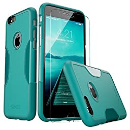 iPhone 6 Case, fits iPhone 6s (Teal) SaharaCase® Protective Kit Bundled with [Tempered Glass Screen Protector] Slim Fit Rugged Protection Case Shockproof Bumper Hard Back (Teal/Mint/Oasis)
