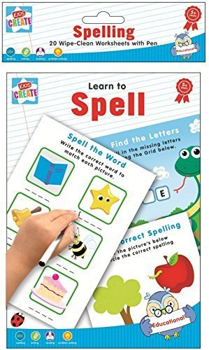 Amazon.com: Learn To Spell - Spelling Writing & Reading 20 Wipe ...