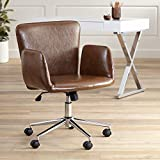 Megan Brown Faux Leather Swivel Office Chair - 55
