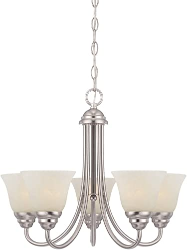 Designers Fountain 85185-SP Kendall 5 Light Chandelier, Satin Platinum