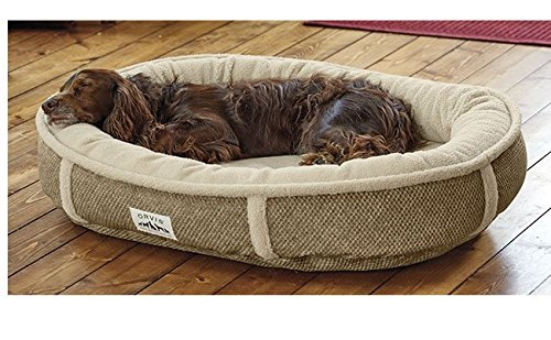 Orvis Wraparound Fleece Dog Bed Cover/Small, Brown Tweed, by Orvis