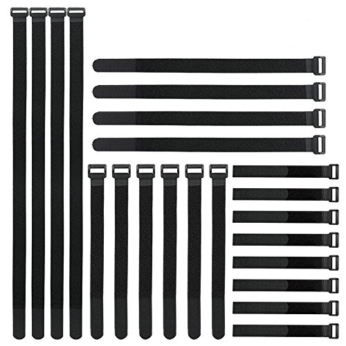 - Reusable Fastening Cable Straps and Cable Ties Set 24 Pack(8