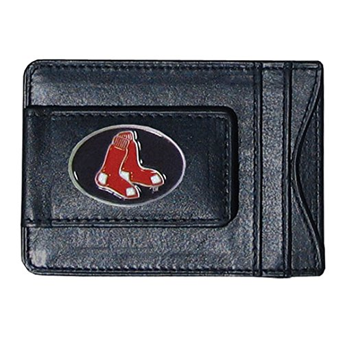 ICE CARATS Mlb Siskiyou Buckle Boston Red Sox Leather Money Clip Man Fashion Jewelry Dad Mens Gift Set (Clip Mlb)
