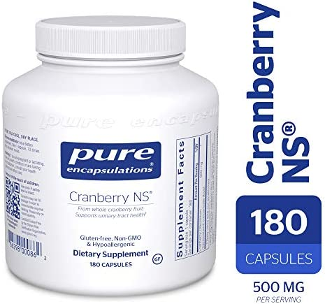 Pure Encapsulations – Cranberry NS – Hypoallergenic Supplement to Support Urinary Tract Health* – 180 Capsules