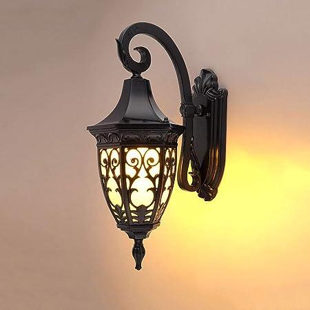 Modenny Exterior Impermeable Apliques de Pared jardín balcón Exterior Luces de Pared Corredor Puerta Exterior farolas residenciales Exteriores lámparas de Pared Patio Porche E27 Decorativo Aplique: Amazon.es: Hogar