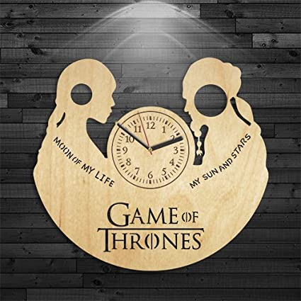 Game Of Thrones Gift For Woman, Game Of Thrones Wood Clock, Lannister Gift For