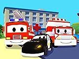 La Ambulancia y la Super Patrulla: Mat el Coche de Polic%EDa y Frank el Cami/3n de Bomberos