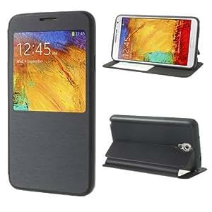 Caso del tirón móvil caja del teléfono de la cubierta del caso del soporte del caso de negocios azul marino Samsung Galaxy Note 3 Neo 3G / SM-N750, Galaxy Note 3 Neo LTE / GT-N7505
