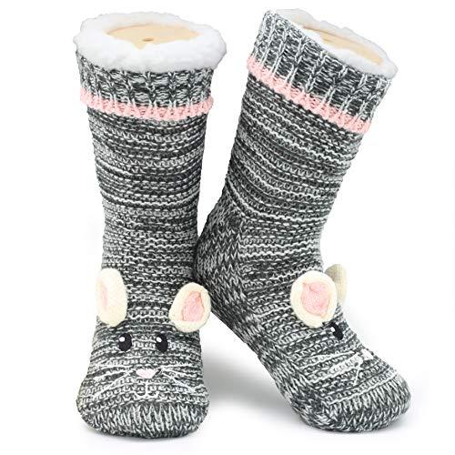 CityComfort Warme Socken Damen, Kinder Und Herren | Süße Socken 3D Neuheit Niedlichen Tier | Paar Geschenke | Extra Warme Hausschuhe | Weiche Socken Damen