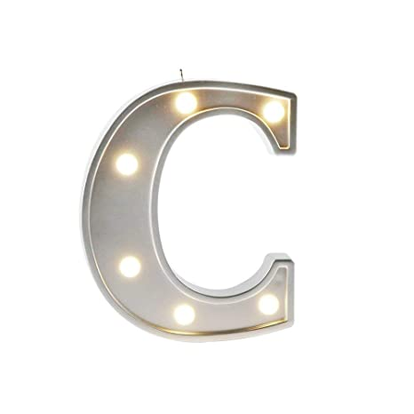 Small Letter C LED Decorative Marquee Alphabet Letter Lights Sign ... 0e5e48aff8