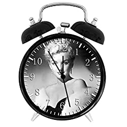 Marilyn Monroe Alarm Desk Clock Home Office Decor F109 Nice For Gifts
