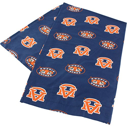 """College Covers Auburn Tigers Pillowcase Only - Body Pillow, 20"""" x 60"""", Blue"""