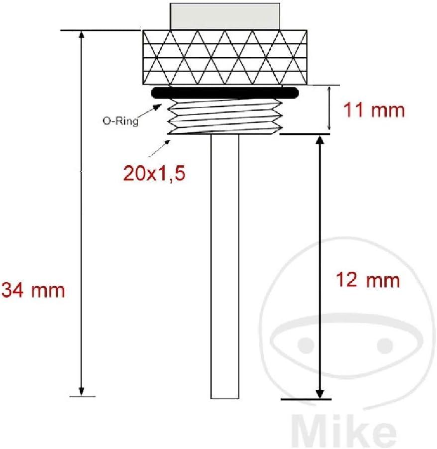 INDICATORE TEMPERATURA OLIO JMP 20X1.5 mm