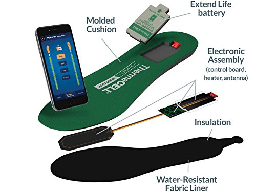 ThermaCELL Proflex Heavy Duty Heated Shoe Insoles with Bluetooth Compatibility, XXL by Thermacell (Image #5)