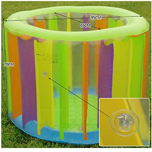 KLWJ Inflatable baby inflatable pool, Bathtub, Bathing pool, Game pool, Air pump-A by KLWJ (Image #4)