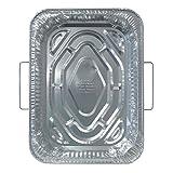 "Durable Packaging 4911-50 Disposable Aluminum Rectangular Roasting Pan with Handles, 18"" X 13-5/16"" X 2-5/8"" Deep (Pack of 50)"