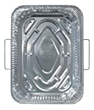 Durable Packaging Disposable Aluminum Rectangular Roasting Pan with Handles,18″ x 13-5/16″ x 2-5/8″ deep (Pack of 50)