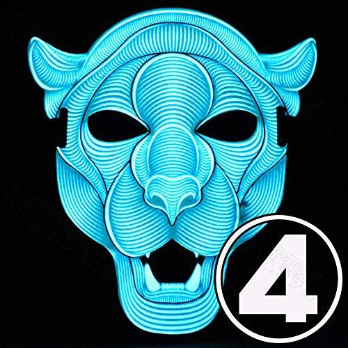 XM masks ZfgG Illuminated Mask LED Creative Cold Light Sound Control Mask Halloween Bar Festival Dance Mask (Color : #4) -