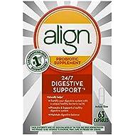 Align Probiotics Supplement for Digestive Health in Adult Men and Women, 63 Probiotic Capsules - Bifidobacterium 35624 - #1 Doctor Recommended Probiotics Brand