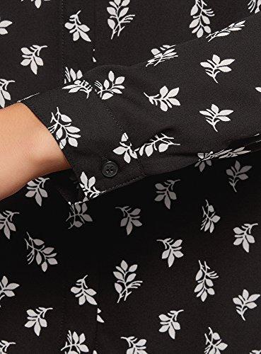 Noir oodji Blouse Ultra Fluide Tissu Femme 2912f en 18T1Zq
