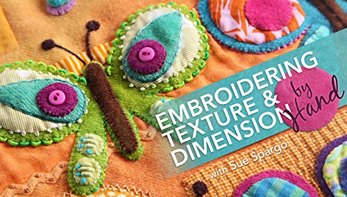 Embroidering Texture & Dimension by - Pattern Applique Free Butterfly