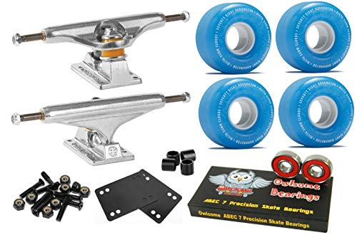 78a Blue Wheels - Stage 11 Skateboard Trucks + 54Mm 78A Clouds Blue Wheels