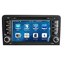 XTTEK 7 inch Touch Screen in dash Car GPS Navigation System for Audi A3 2003-2013 DVD Player+Bluetooth SWC+Backup Camera+North America Map