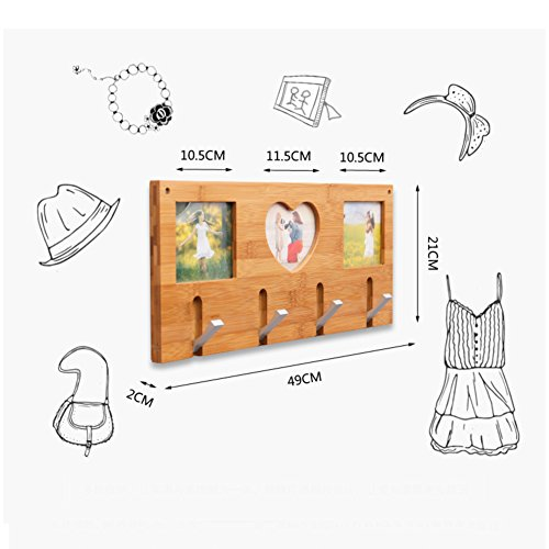SDFDSVDCGVSGVCGD Wall Coat Rack,Bedroom Wood Hanger Wall Hanger Clothes Rack Living Room Entrance Frame Hook-A by SDFDSVDCGVSGVCGD (Image #3)