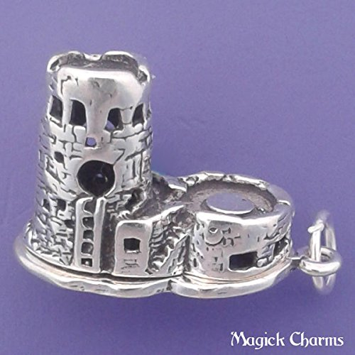 (925 Sterling Silver Grand Canyon Watchtower 3-D Arizona Charm Pendant Jewelry Making Supply, Pendant, Charms, Bracelet, DIY Crafting by Wholesale Charms)
