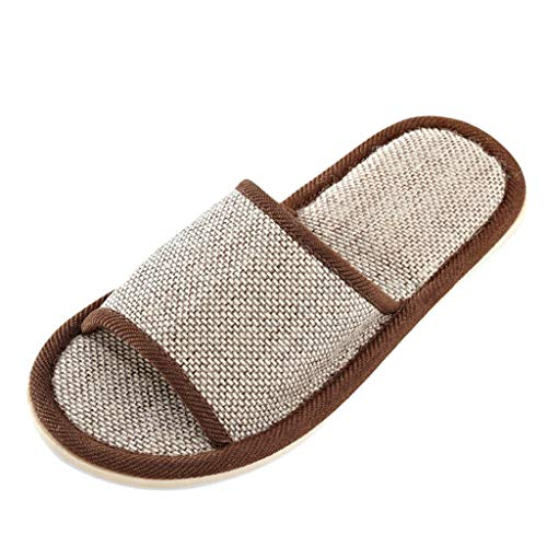 ANJUNIE Womens Mens Couples Casual Home Slippers Indoor Floor Flat Shoes Sandals Slip on
