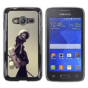 CASECO - Samsung Galaxy Ace 4 - Minimalist Skeleton - Delgado Negro Plástico caso cubierta Shell Armor Funda Case Cover - Minimalista Esqueleto