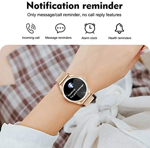 Yocuby Smart Watch for Women,Bluetooth Fitness Tracker Compatible with iOS,Android Phone, Sport Activity Tracker with Sleep/Heart Rate Monitor, Calorie Counter 513rLLhMXvL