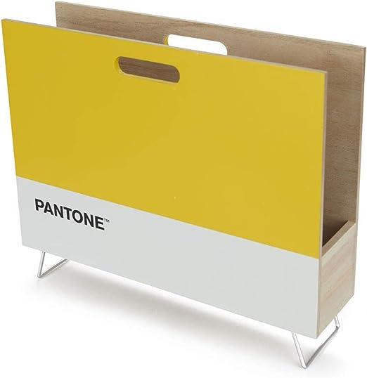 Documents au Design Moderne et Minimaliste Pantone Bois DM 28x38x9 cm Balvi Porte-revues Pantone Couleur Jaune Range Magazines d/écoratif pour journaux