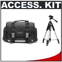 Canon 200DG Digital SLR Camera Case Gadget Bag + Tripod...