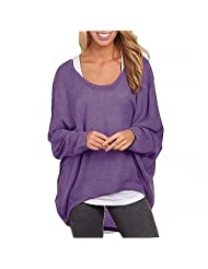 Menglihua Womens Outumn Casual Oversized Loose Baggy Pullover Tunic Shirt Top Blouse