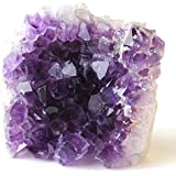 Class 2 Natural Deep Purple Uruguay Amethyst Upright Standing Stone By JIC Gem: 1-2 Pounds