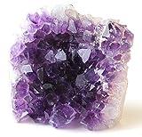 Class 2 Natural Deep Purple Uruguay Amethyst Upright Standing Stone By JIC Gem: 1-2 Pounds
