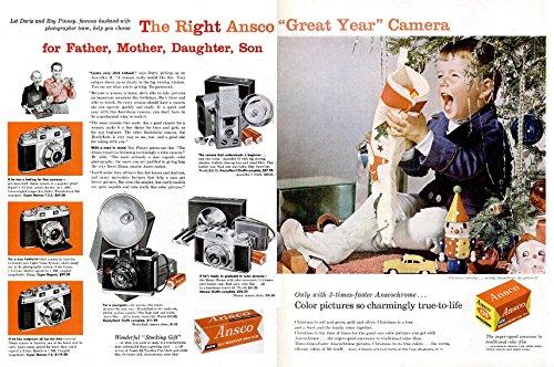 Ansco Film Color (ORIGINAL *PRINT AD* 1956 ANSCO CAMERAS & FILM