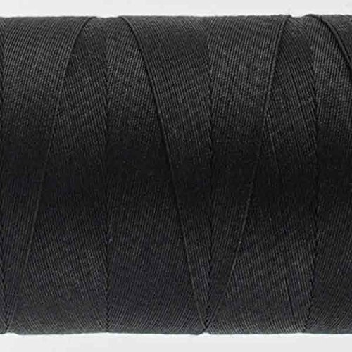 WonderFil Specialty Threads Konfetti Thread Black 50wt double gassed Egyptian cotton