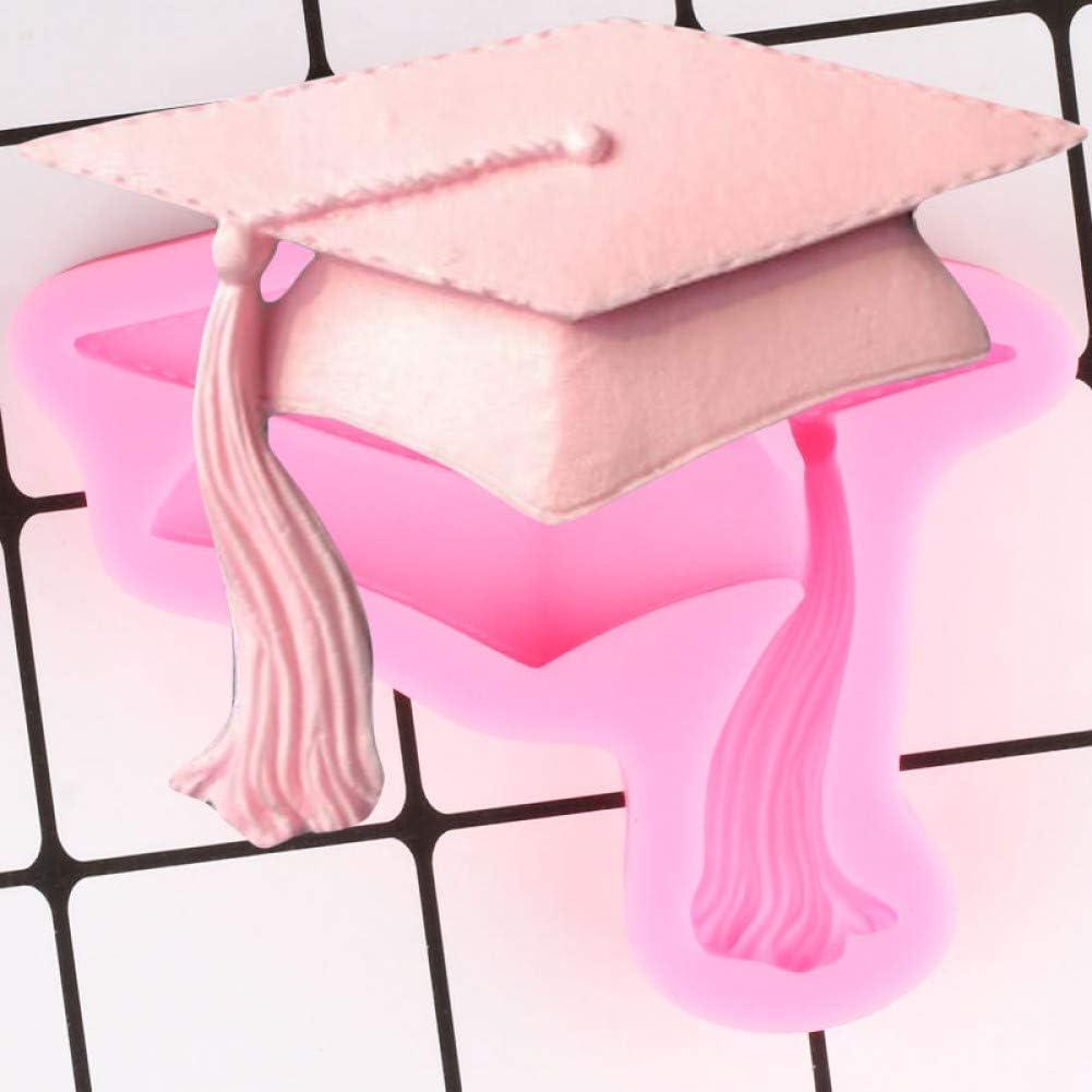 WANGY 3D Graduation Silicone Moules Chapeau Cupcake Fondant Moule DIY Partie G/âteau D/écoration Outil Polym/ère Argile Bonbons Chocolat////Moule