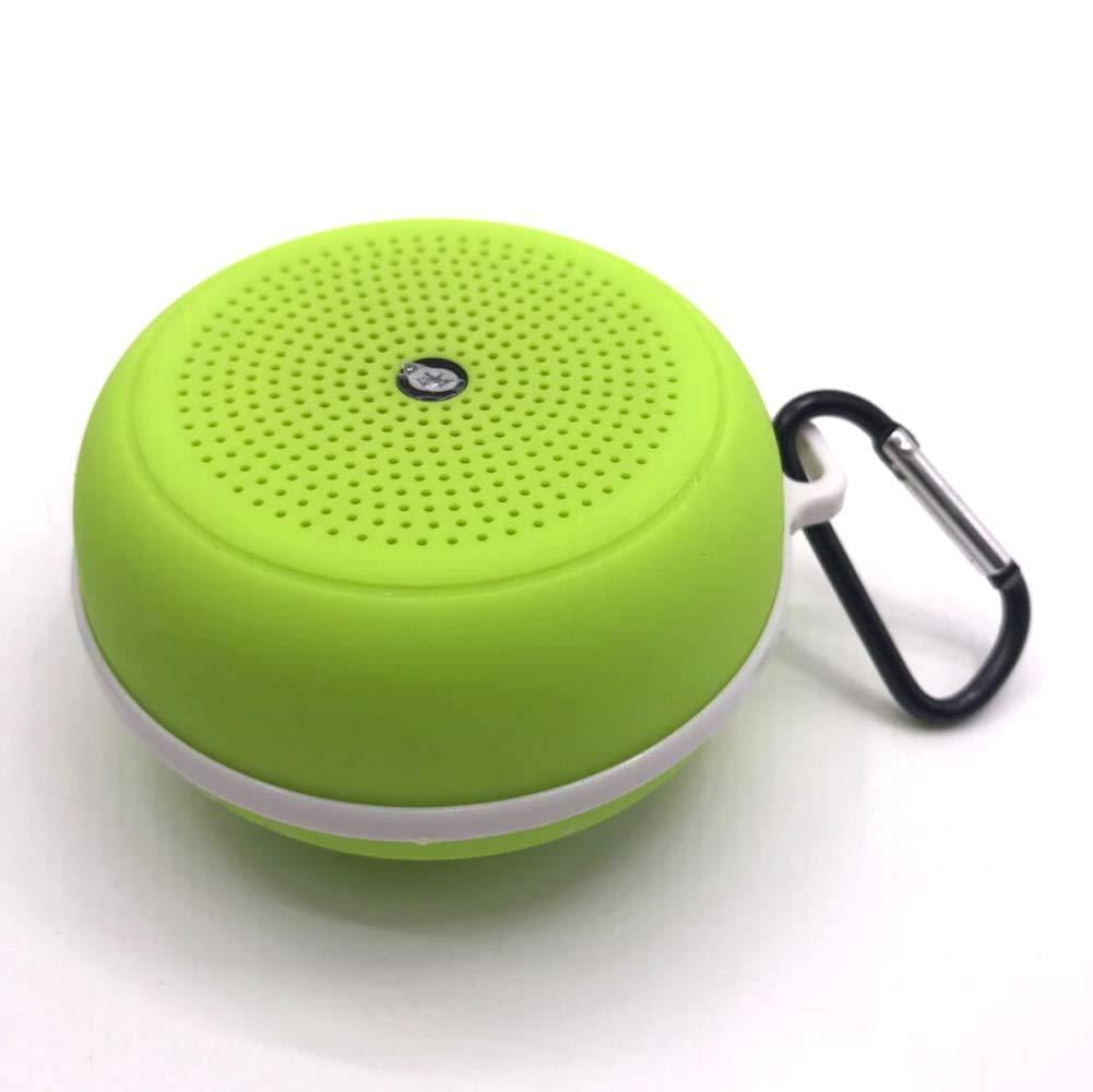 Aszsll アウトドアミニスピーカー Bluetoothスピーカー ポータブルスピーカー ワイヤレスサブウーファーカード ミニスピーカー USBハンズフリー通話 グリーン 030-049-000  グリーン B07MW8CGJS