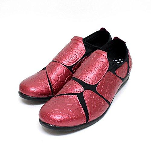スーパーストレッチ シューズ 婦人靴 レディース?シューズ 外反母趾 ウォーキング コンフォート バラ柄 SC1824