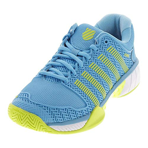 K-Swiss Women's Hypercourt Express Tennis Shoe (Fusion Coral/Bonnie Blue, 5)
