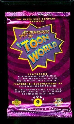 Upper Deck Adventures in 'Toon World Trading Card Pack - 10 cards per pack - Featuring Michael Jordan, Wayne Gretzky, Joe Montana, Reggie Jackson and the Looney Tunes (Wayne Gretzky Trading Cards)