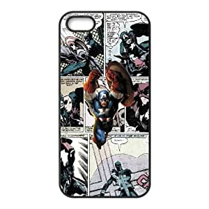 iPhone 5,5S phone cases Black Marvel comic Phone cover NAS3846930