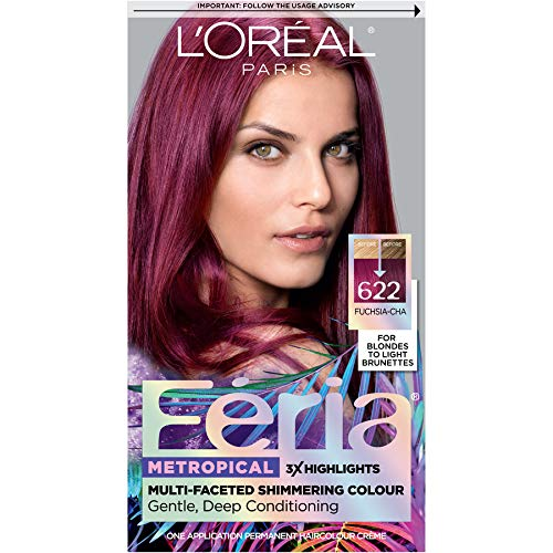 L'oreal Paris Hair Color Feria Multi-faceted Shimmering Permanent Coloring, Fuchsia-cha