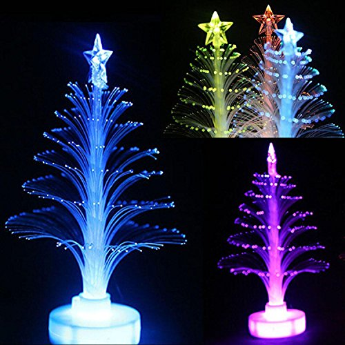 7 Color Christmas Xmas Tree Fiber Optic Led Night Light